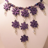 Cascading Flowers Statement Necklace