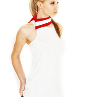 Summer Olympics SALE Chic Flag Top with Movable Collar