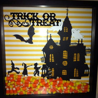 Trick or Treat shadow box picture