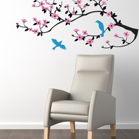 Cherry Blossom Branch Wall Decal - Original Wall Decor