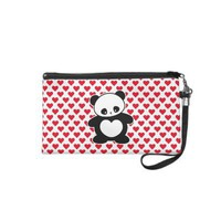 Kawaii panda wristlet clutch from Zazzle.com