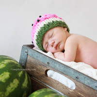 Watermelon Baby Hat -- Photography .. on Luulla