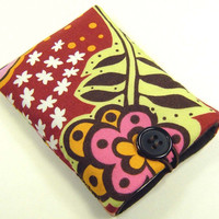 iPhone case, iPhone cover, iPhone sleeve, iPhone cozy, iPod cover, iPhone pouch, Padded Camera Cell Gadget Geek Brown Pink Lime - tui