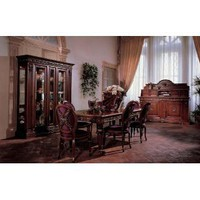 Amazon.com: San Marco Dark Walnut Dining Set 8 Piece: Home &amp; Kitchen