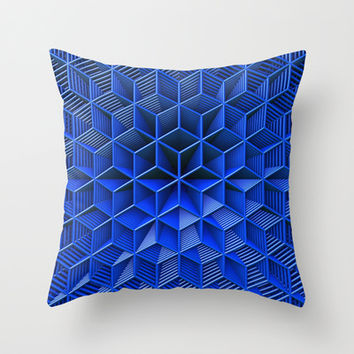 It's Blue Throw Pillow by Lyle Hatch