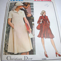 Vintage Vogue Pattern Vogue Paris Original Christian Dior womens dress size 14 Uncut