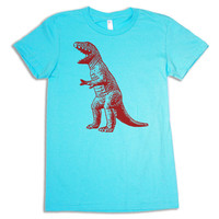 T Rex urban Dinosaur WOMENS T-Shirt (s m l xl) american apparel sheldon geek shirt