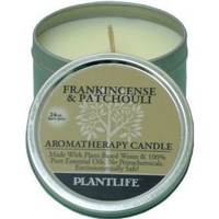 Frankincense & Patchouli Aromatherapy Candle- Made with 100% pure essential oils - 3oz tin