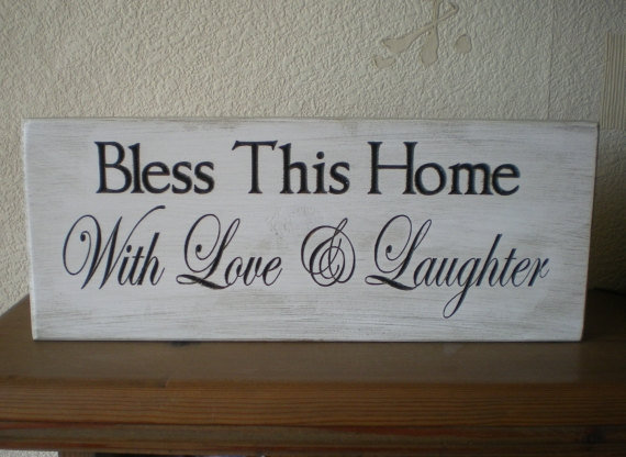 Bless This Home Wood Sign