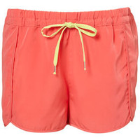 Contrast Tie Running Shorts - Sale  - Sale & Offers