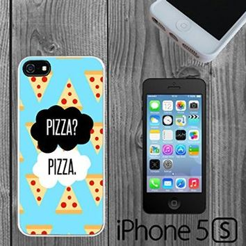 Pizza Parody Okay Custom made Case/Cover/Skin FOR iPhone 5/5s -White- Rubber Case (Ship From CA)