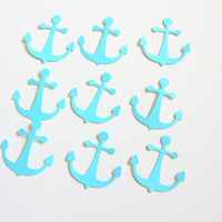 Nautical Anchor Cutouts, Confetti - Light Turquoise