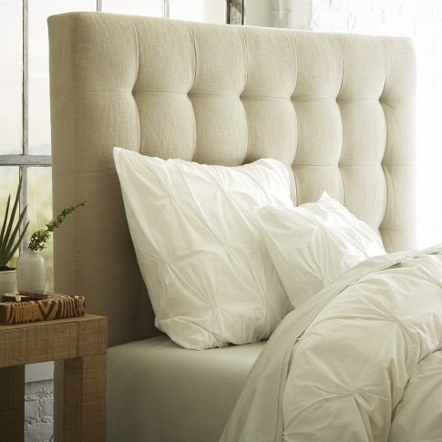 Tall Grid Tufted Headboard from West Elm