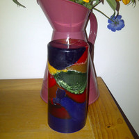 Multi Coloured Pillar candle