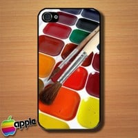 Watercolor Paints Set Custom iPhone 4 or 4S Case Cover