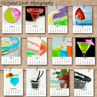 2013 Beverage Calendar 5x7 Loose Page Calendar Fine Art Photography Prints Desk Calendar Wall Calendar Photography Calendar