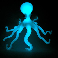Glow in the dark Octopus Glass Medium Sculpture