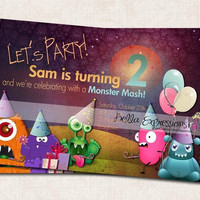 Monster Mash Birthday Invitation (Digital File), you print