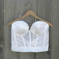 Vintage 1990's White Lace Corset By InkandRoses13