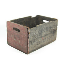 Vintage Wood Crate Wooden Box United States Brewing Company Chicago Advertising