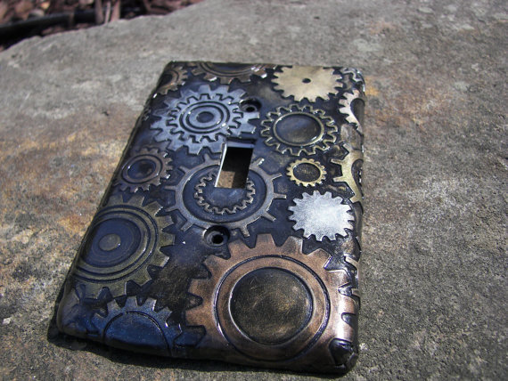 Steampunk Steam Punk Light Switch Plate From Krisi On Etsy