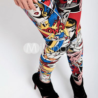 Multi-Color Printed Fashion Cotton Womens Leggings -  Milanoo.com