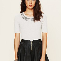 Free People Pixie&#x27;s Collar Sweater