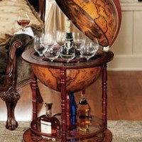Home Decor | Sixteenth-Century Italian Replica Globe Bar