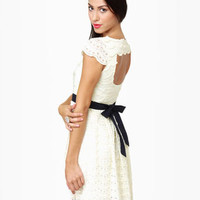 Lovely Cream Dress - Lace Dress - Ivory Dress - $83.00
