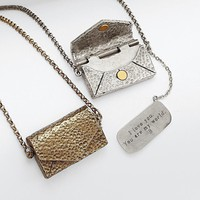 personalizable vintage love letter necklace