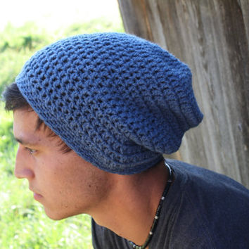 Free Crochet Pattern For Mens Slouchy Beanie : CROCHET SLOUCH BEANIE MEN ? Only New Crochet Patterns