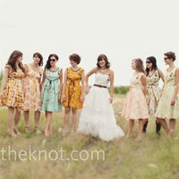 Real Weddings - A Vintage DIY-Style Wedding - Vintage Bridesmaid Dresses