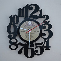Vinyl Record Album Wall Clock (artist is Garrison and Van Dyke)