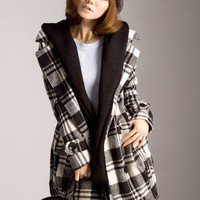 Free Size Outfit Women New Wool Blend Check Lattice Coat@T707 - $19.14 : DressLoves.com.
