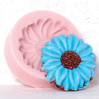 Flower Silicone Mold make your own cabochons, cupcake toppers, cake decorations using this flexible mold