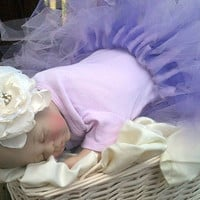 Tutu custom made photography prop with FREE SHIPPING and matching ribbon