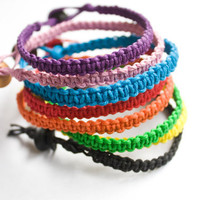 Lot of 3 Hemp Bracelets Friendship Bracelet Colorful Bracelet
