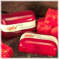 Wild Watermelon Glycerin Soap Fuschia Pink Fresh Summer Fragrance