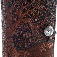 Ancient Oak Tree Leather Journal - Item Detail for LLJ-M17 at Gryphon&#x27;s Moon