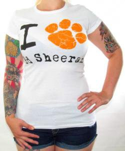 ROCKWORLDEAST - Ed Sheeran, Girls T-Shirt, I Paw Ed