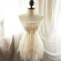 Chantilly Majestic Nutcracker Romantic French Vanilla Angel Dreamy Lace Alice in Wonderland Marie Antoinette Jane Austen Sexy Party Dress