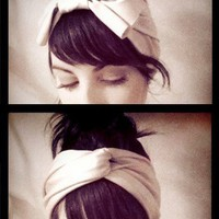 hair / What A Lady Bow Turban SS2011 by itsokmydear on Etsy