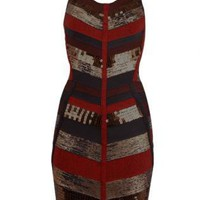 Bqueen Metallic Stretch-Bandage Dress H099T