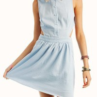 pearl-embellished-collar-dress LIGHTBLUE - GoJane.com