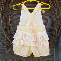 Baby Ruffled Romper Knot Ties Size .. on Luulla