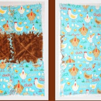 Baby Rag Quilt Chickens Burp Cloth
