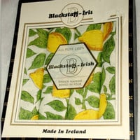 Vintage Blackstaff-Irish Dinner Napkins Boxed in Four Made in Ireland All Linen