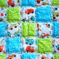 PICK HOUR Baby Rag Quilt Blanket and Baby Rib Rag Comfort Blanket