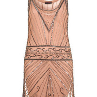 Nude Embellished Vest Dress - Miss Selfridge