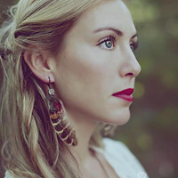 Wild Child. vintage feather earrings. boho